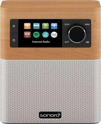 Sonoro Stream SO-410 V2 Maple/Wit Internetradio