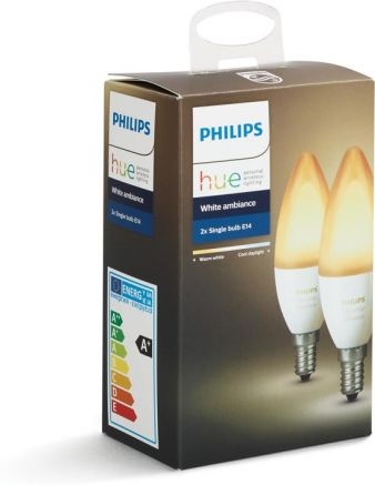 Philips HUE 2x E14 / Duo Pack / wit 2200-6500K